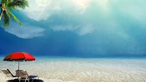 yaz,kumsal,deniz,şezlong,gökyüzü
