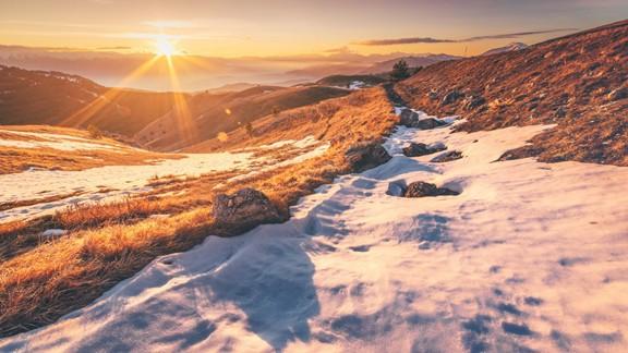 Günbatımı Dağ