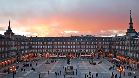 Günbatımı Madrid