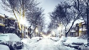 kar,kış,şehir,araba,ağaç,mahalle