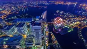 yokohama,japonya,deniz,şehir